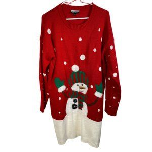Allison Brittney Snowman Holiday Sweater Size XL